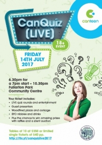 Jul 14 CanQuiz [LIVE] presented by CanTeen - Fullarton SA