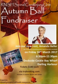 Mar 10 RNSH Spinal Cord Injury Unit Autumn Ball Fundraiser - Sydney