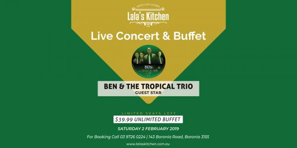 Live Concert & Unlimited buffet at Lala's Kitchen Boronia