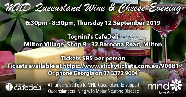 MND Qld Wine & Cheese Evening