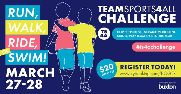 Get active challenge! Help support vulnerable Melbourne kids to play team sport this year.