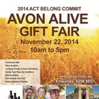 Act, Belong, Commit Avon Alive Gift Fair - York WA