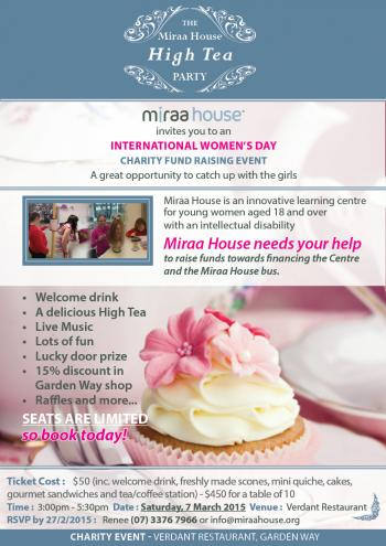 Miraa House High Tea Fundraising Event 2015 - Darra QLD