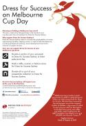 Hold a Melbourne Cup Fundraiser for Dress For Success