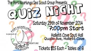 Port Noarlunga Sea Scout Quiz Night - Hallett Cove SA