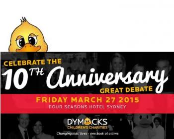 2015 Dymocks Childrens Charities 10th Anniversary Great Debate