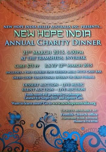 NEW HOPE INDIA CHARITY DINNER 2015 - Inveresk TAS