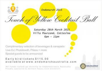 Endo March Perth, Touch Of Yellow Cocktail Ball - Perth