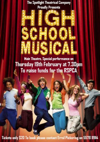 RSPCA Fundraiser - High School Musical