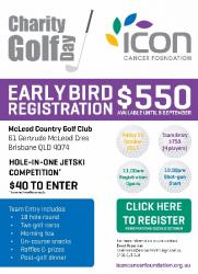 Oct 13 Icon Cancer Foundation Charity Golf Day