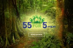 55 for 5 charity hike