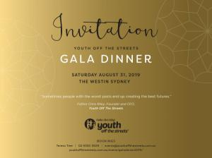 Youth Off The Streets Gala Dinner 2019