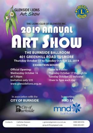 2019 Glenside Lions Art Show 17  - 22nd October