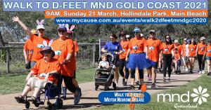 Mar 21 Walk to D:Feet MND Gold Coast