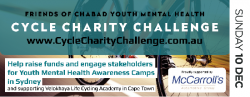 Dec 10 Friends of Chabad Youth Mental Health Cycle Charity Challenge
