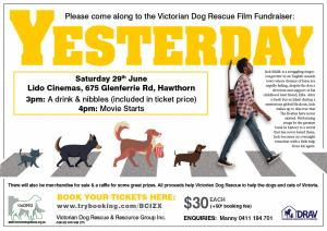 Victorian Dog Rescue Cinema Fundraiser - YESTERDAY