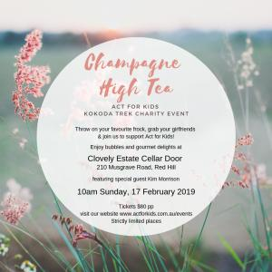 Kokoda Trek Champagne High Tea