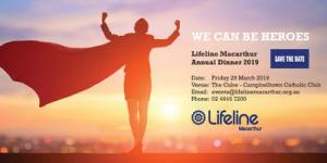 Lifeline Macarthurs 2019 Annual Dinner - We Can Be Heroes
