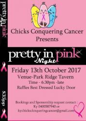 Oct 14 Pretty in Pink Night - Chicks Conquering Cancer Fundraiser