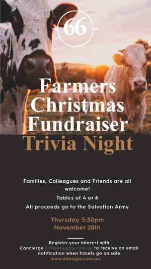 Trivia Night Christmas Fundraiser for Local Farmers
