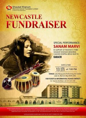 Apr 14 Fundraiser in Newcastle - with Sanam Marvi