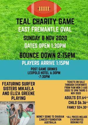 Teal Charity Football Game