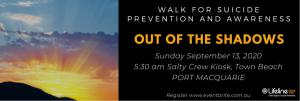 Out of the Shadows Walk for Suicide : Bereavement Walk