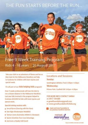 Grow Foundation Kids Helping Kids 2019 - Melbourne Marathon Training