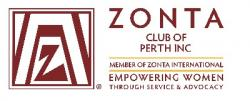 Oct 13 Zonta Club of Perth Monthly Dinner Meeting