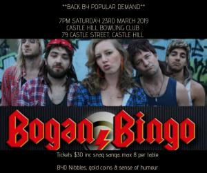 Bogan Bingo at the Bowlo