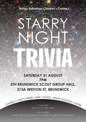 Shirley Robertson Childrens Centre fundraising trivia night