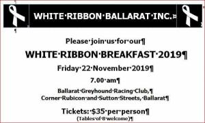 Ballarat White Ribbon Day Breakfast 2019
