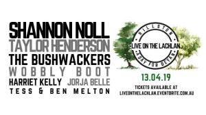 Apr 14 Live on the Lachlan - Fundraiser featuring Shannon Noll & Taylor Henderson