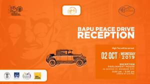 Bapu Peace Drive; 150 Celebration of Gandhi in Queensland at the Queensland Parliament over a high level High Tea