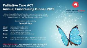 Palliative Care ACT - Annual Fundraising Dinner 2019
