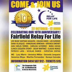 10th Anniversary of Fairfield Relay For Life