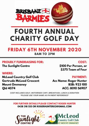 The Brisbane Barmies Fourth Annual Charity Golf Day