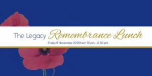 Nov 09 The Legacy Remembrance Lunch