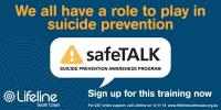 May 18 Lifeline South Coast safeTALK seminar - Illawarra Leagues Club