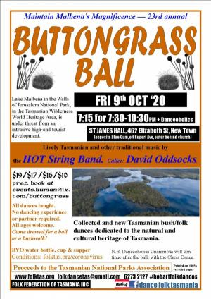 Oct 09 Buttongrass Ball with the HOT String Band!
