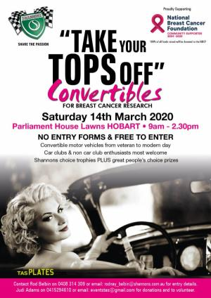 Mar 14 Shannons Take Your Tops Off for Breast Cancer Research
