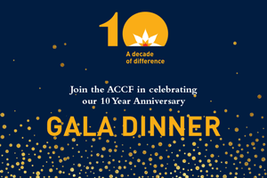 Australian Cervical Cancer Foundation 10 Year Anniversary Gala Dinner