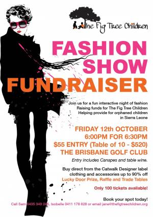 FASHION SHOW FUNDRAISER FOR THE FIG TREE CHILDREN