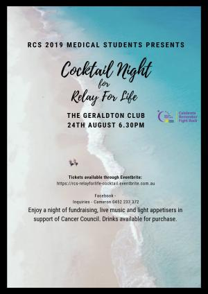 Relay for Life Cocktail night presented by RCS Medical Students
