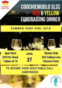 Coochiemudlo SLSC Red and Yellow Fundraising Dinner
