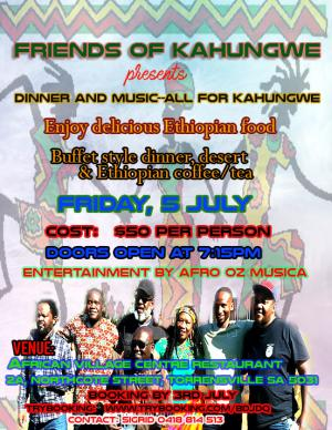 Dinner and Music - all for Kahungwe