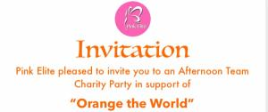 Pink Elite Charity Party: Orange the World
