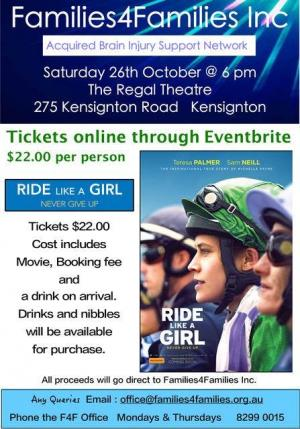 Ride Like a Girl. Families4Families Inc Annual Fundraiser