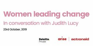 Women Leading Change - In Conversation with Judith Lucy
