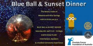 The Blue Ball and Sunset Dinner
